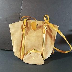 RODO made in Italy Suede shoulder bag & coin purse